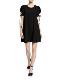 Crewneck Puff-Sleeve Mini Dress by See by Chloe at Bergdorfgoodman