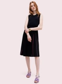 Crewneck Sleeveless Pleated Sweater Dress at Kate Spade
