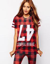 Criminal Damage  Criminal Damage Oversized T-Shirt With Paisley Check Print Co-Ord at Asos