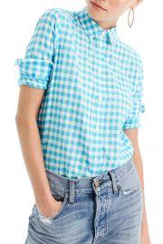 Crinkle Gingham Boy Shirt at Nordstrom Rack