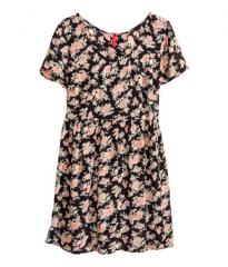 Crinkled floral dress at H&M