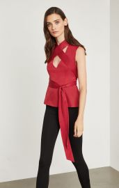 Criss Cross Wrap Tie Top at Bcbg