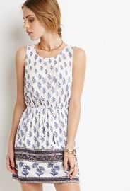 Crisscross-Back Floral Dress at Forever 21