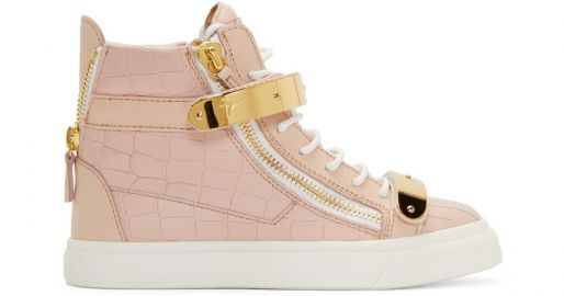 Croc Embossed Leather Ringo Sneakers by Giuseppe Zanotti at Ssense