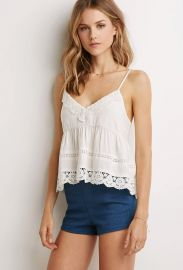 Crochet Babydoll Cami in Cream at Forever 21