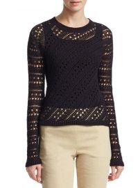 Crochet Crewneck Sweater by Thoery at Saks Off 5th