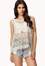 Crochet Georgette Top at Forever 21