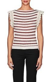Crochet-Trimmed Striped Top by Philosophy di Lorenzo Serafini at Barneys