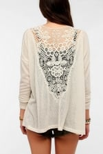 Crochet back cardigan at Urban Outfitters at Urban Outfitters