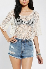 Crochet crop top by Lucca Couture at Urban Outfitters