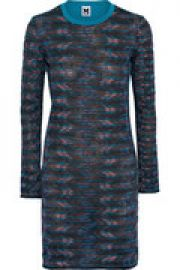 Crochet-knit and cotton-jersey mini dress at The Outnet