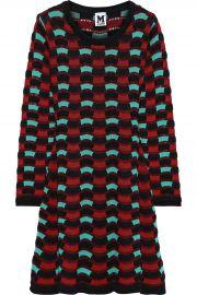 Crochet-knit cotton-blend mini dress at The Outnet
