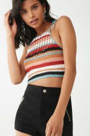 Crochet knit crop top by Forever 21 at Forever 21