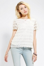 Crochet lace top at Urban Outfitters at Urban Outfitters