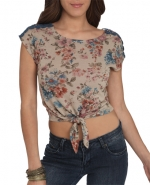 Crochet shoulder top from Wet Seal at Wet Seal
