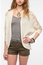 Crochet sleeve dolman cardigan at Urban Outfitters at Urban Outfitters
