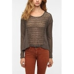 Crochet sweater from Urban Outfitters at Urban Outfitters