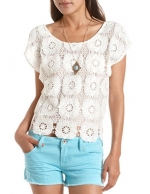Crochet top at Charlotte Russe at Charlotte Russe