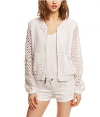 Crocheted Bomber Jacket at Express