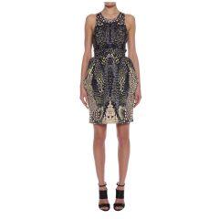 Crocodile print dress at Alexander McQueen