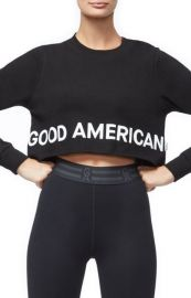 Crop Sweatshirt by Good American at Nordstrom