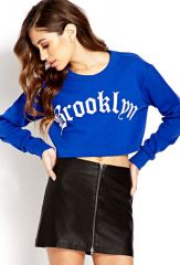 Cropped Brooklyn Sweatshirt at Forever 21