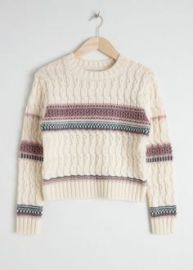 Cropped Cable knit sweater at & Other Stories