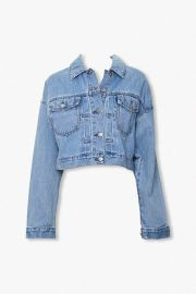 Cropped Denim Jacket at Forever 21