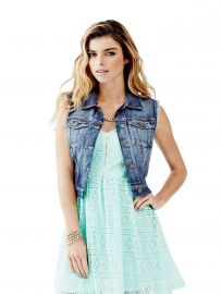 Cropped Denim Vest by Guess at Guess