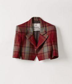 Cropped Jacket in Tartan Red by Vivienne Westwood at Vivienne Westwood