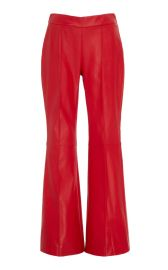 Cropped Lambskin Flared Pants at Moda Operandi