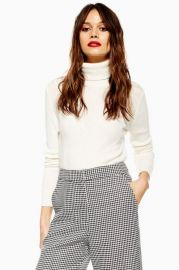 Cropped Roll Neck Jumper with Cashmere at Topshop