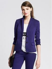 Cropped Sateen Blazer at Banana Republic