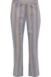 Cropped Striped Kick-Flare Pants by Derek Lam 10 Crosby at The Outnet