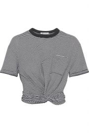 Cropped Twist-front T-shirt by T by Alexander Wang at The Outnet