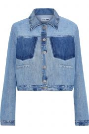 Cropped Two-Tone Denim Jacket by Re Done with Levis at The Outnet