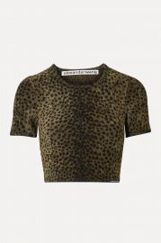Cropped animal-print chenille top at Net A Porter