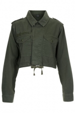 Cropped army jacket at Topshop at Topshop