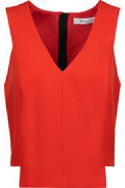 Cropped asymmetric crepe top at The Outnet