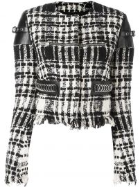 Cropped boucle Jacket by Alexander Wang at Farfetch