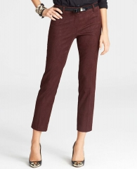 Cropped jacquard pants at Ann Taylor