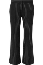 Cropped pinstriped wool-blend flared pants at Net A Porter