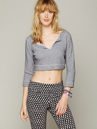 Cropped pullover at Free People