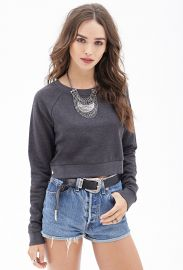 Cropped sweatshirt at Forever 21
