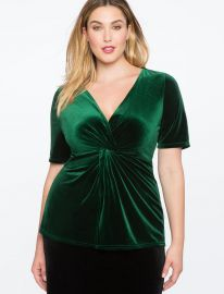 Cross Front Velvet Tunic by Eloquii at Eloquii