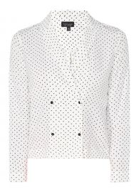 Cross Print Pyjama Shirt at Topshop