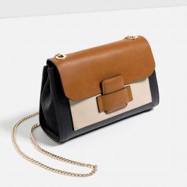 Crossbody Bag with Front Pocket at Zara