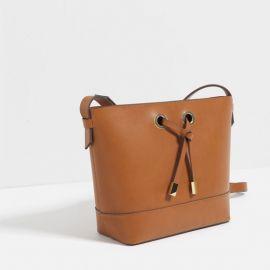 Crossbody Bag with Gold Hardware at Zara