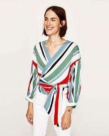 Crossover Striped Top at Zara