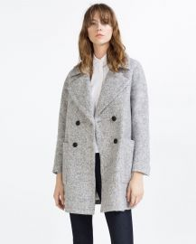 Crossover Wool Coat at Zara